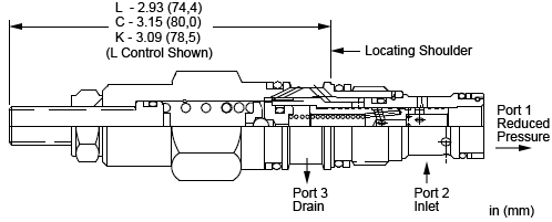 PPBB : Pilot operated, pressure reducing/relieving valve