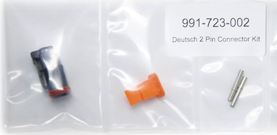 991723002 : 2-pin Deutsch connector kit (black)