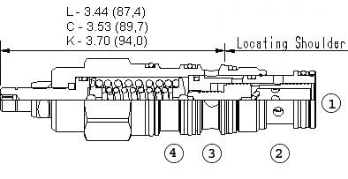 PSFB : 直动式, 减压/溢流阀 带口4外泄