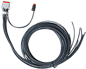 XMD Series, 3M, 12-pin Deutsch prototype cable, single-output with 2-pin Deutsch lead