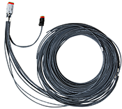 XMD Series, 6M, 12-pin Deutsch prototype cable, single-output with 2-pin Deutsch lead