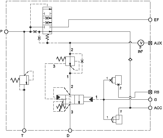 Detector de presión en el acumulador, descargador de bomba  ensamblaje  con válvula de control de caudal