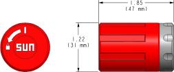 991302 : 740 Series, red detent/lock operation, Commande Manuelle Kit pour dispositif de réglage , Dispositif de Réglage L