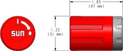 991301 : 740 Serie, rot Drehbare Handbetätigung, Federrückstellung, Nothandbetätigung Verstellart, T-Verstellung