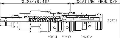 DRBN : 3-vías, acción-directa , direccional válvula  con drenaje al puerto 4 - normalmente cerrado