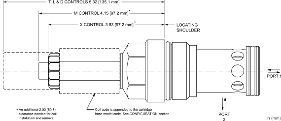 DFFI : 2-way, 2-stage, solenoid-operated directional poppet valve - flow 1-2 (740 Series)