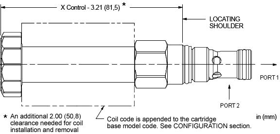 FPBG : FLeX Serie  vorgesteuert, In Ruhestellung geschlossen , proportional  Drossel mit Umgehungsrückschlagventil - Durchfluss 2-1