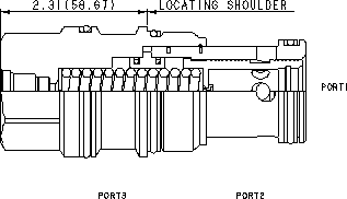 LPJA8 : Normally open, modulating element with integral T-8A control cavity and pilot source from port 1